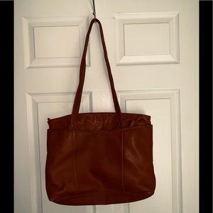 Ellington large leather work tote bag